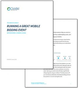 Running a Great Mobile Bidding Event