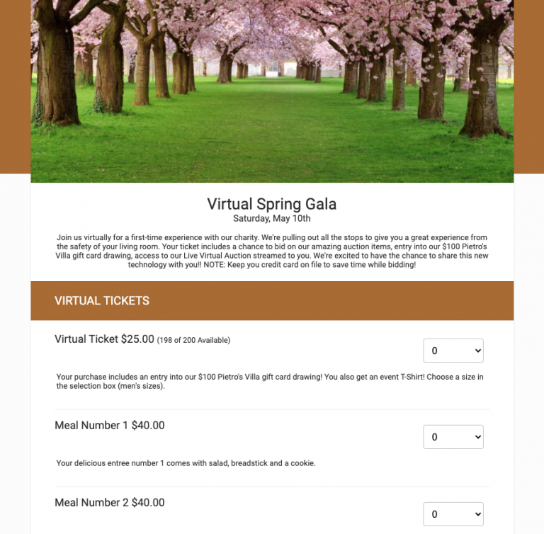 Sample Ticket Page
